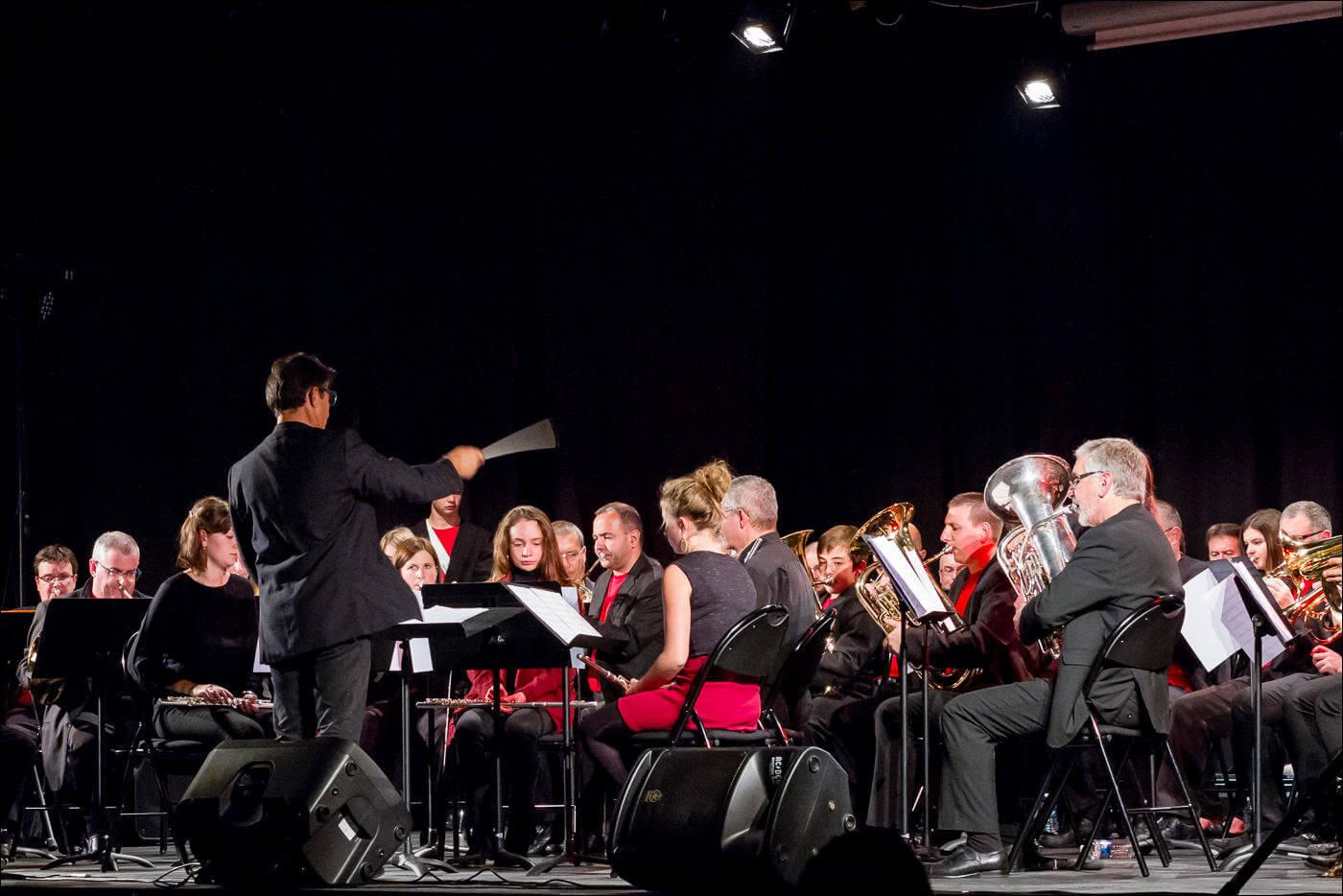 Photographe de concert avec la Fanfare de Cournon