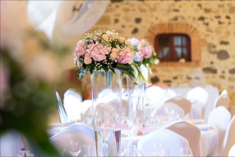 Photo des tables de mariage