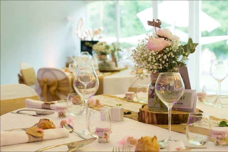 Photo de la table des mariés
